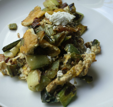 Bok Choy Bell Pepper Scramble