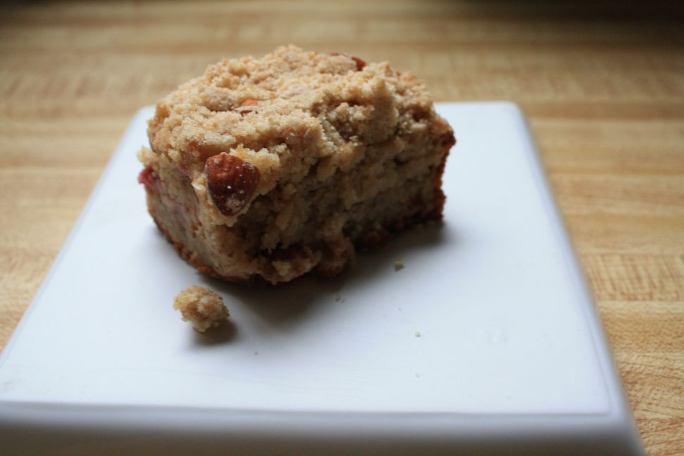 DESSERT RECIPES- White Cranberry Almond Amaranth Crumb Cake