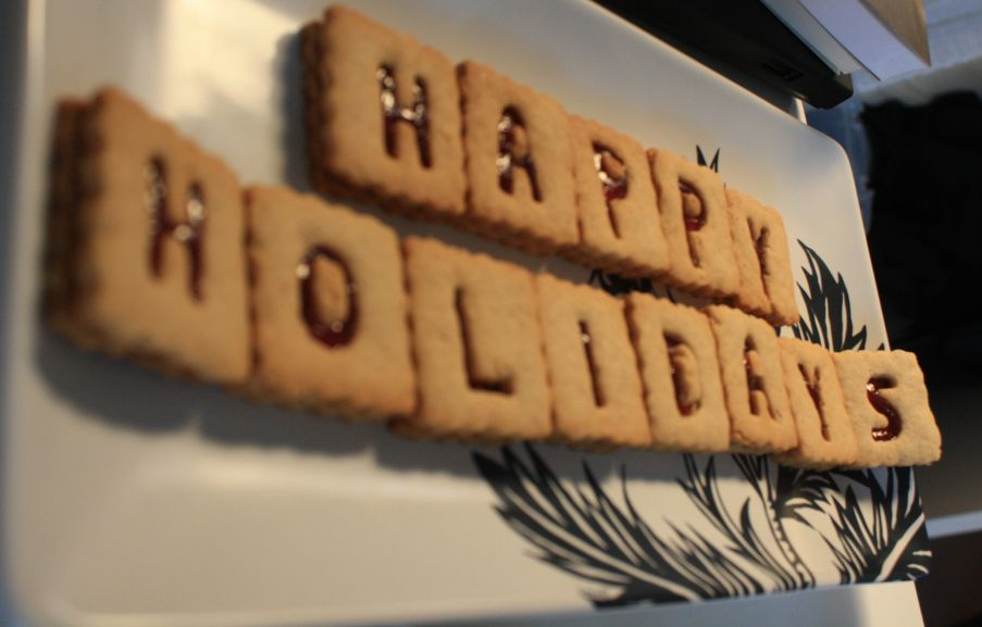 happy holidays cookie tiles