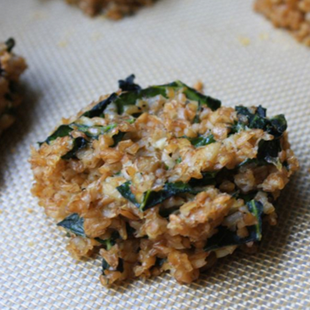 bulgur collard cakes