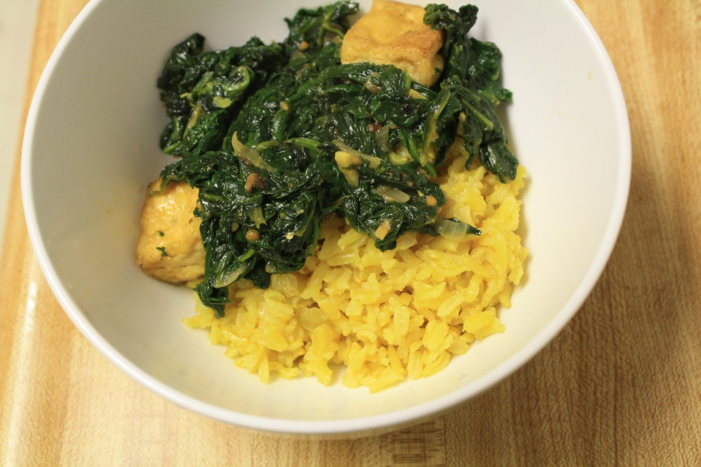 Spinach Saag With Spiced Potato Balls Recipes — Dishmaps