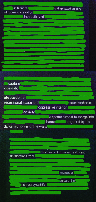 Erasure Poetry- Paley at DeYoung