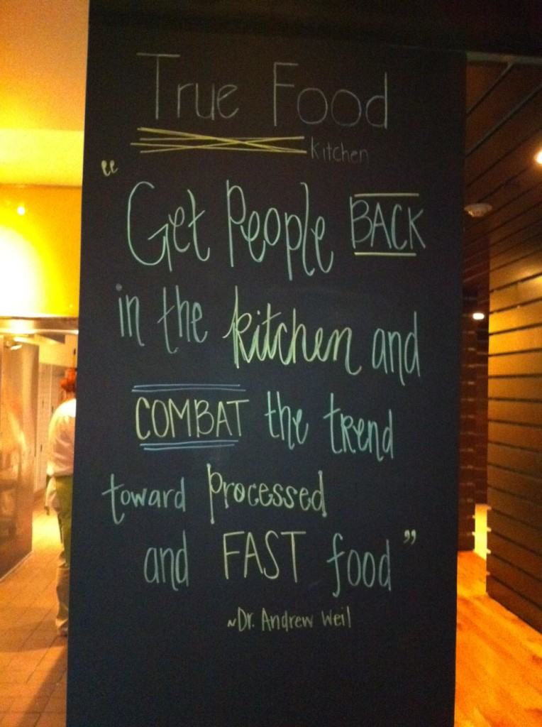 true food kitchen dr andy weil quote
