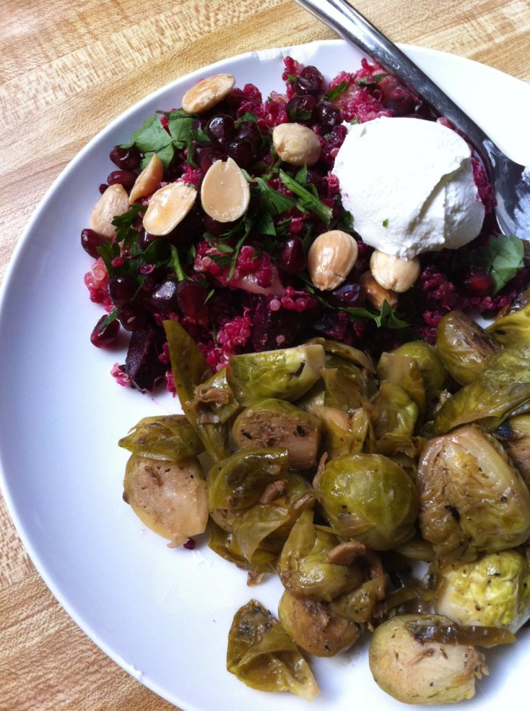 umami brussels sprouts true food kitchen quinoa tabbouleh