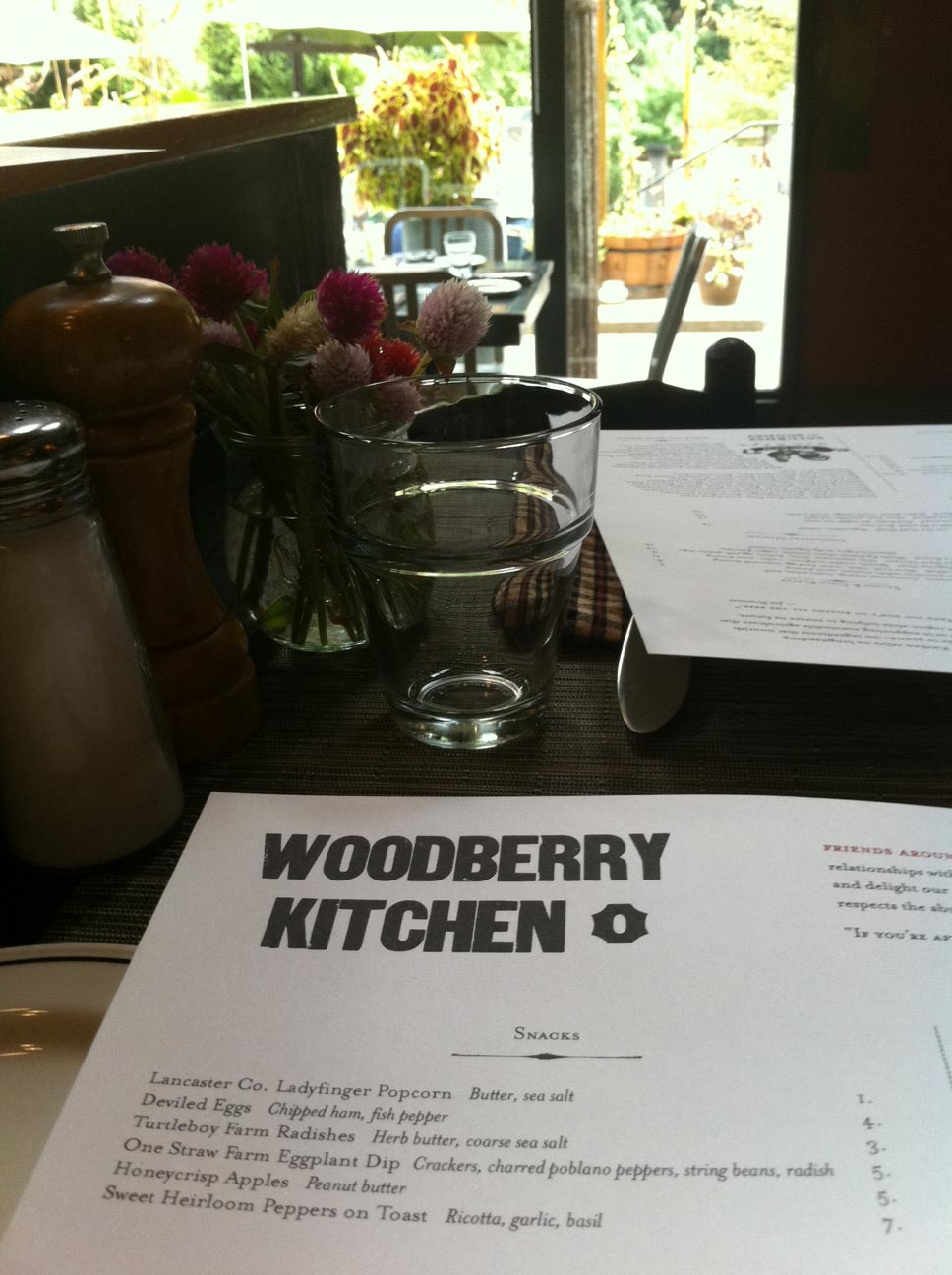 Woodberry Kitchen Restaurant Poetry