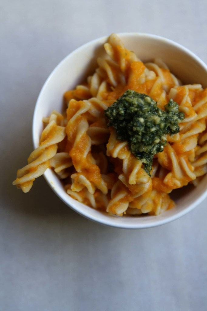 Fusili in Carrot Sauce with Carrot Top Pesto | Annelies Zijderveld