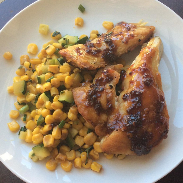 spicy sweet tea glazed chicken