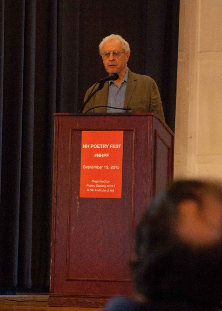 Poet Charles Simic at New Hampshire Poetry Fest 2015
