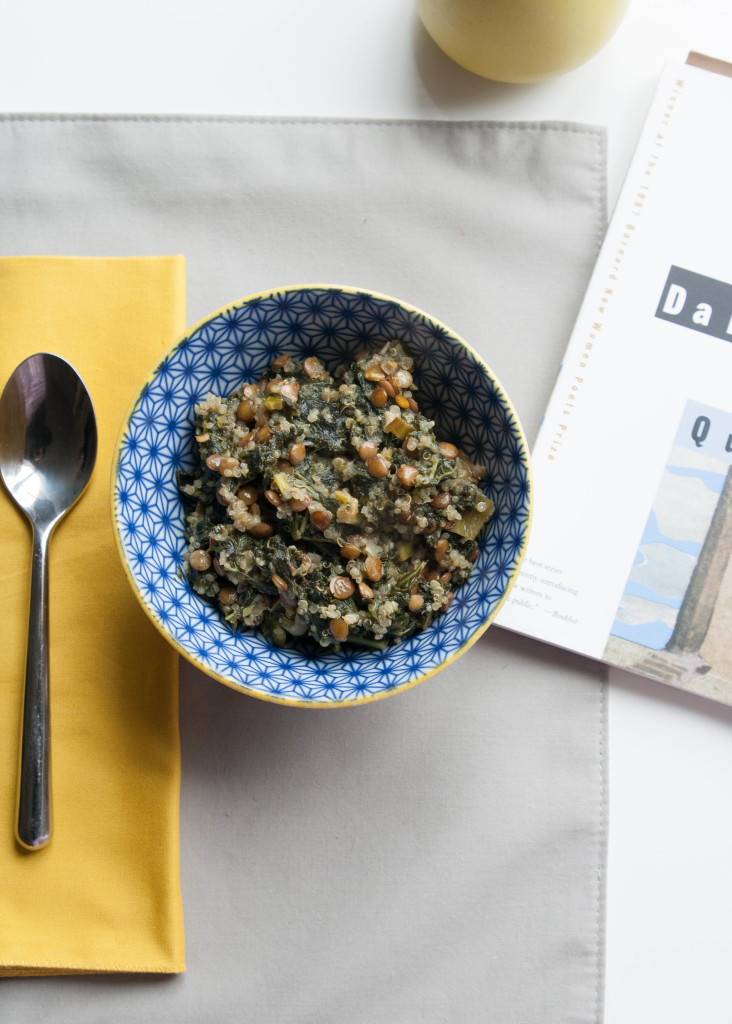 Lentil Quinoa with Kale