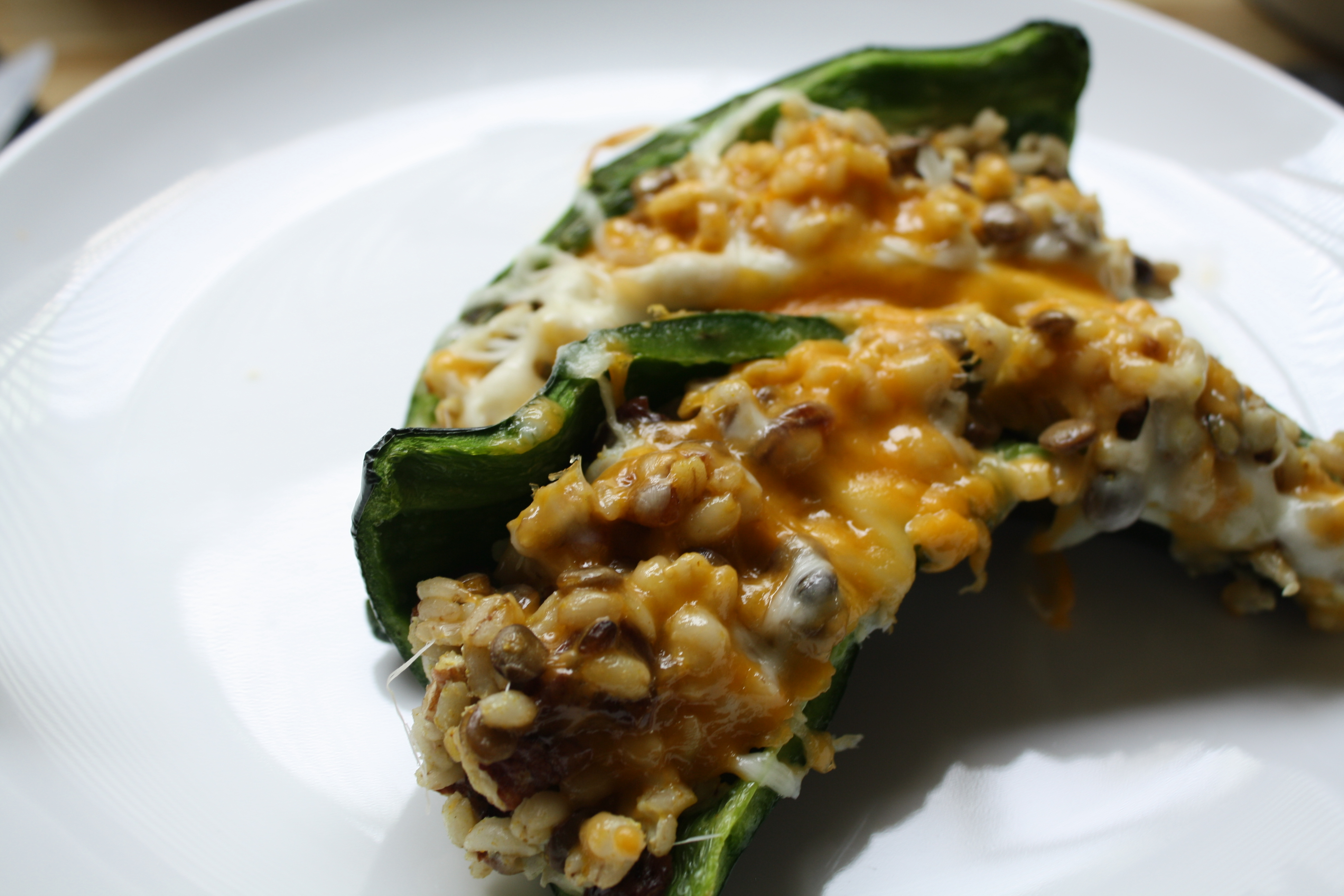 VEGETARIAN RECIPES- Open-Faced Stuffed Poblano Peppers