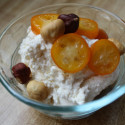 Cinnamon Ricotta with Candied Kumquats