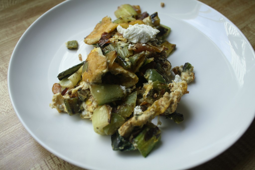 BRUNCH RECIPES- Bok Choy Bell Scramble