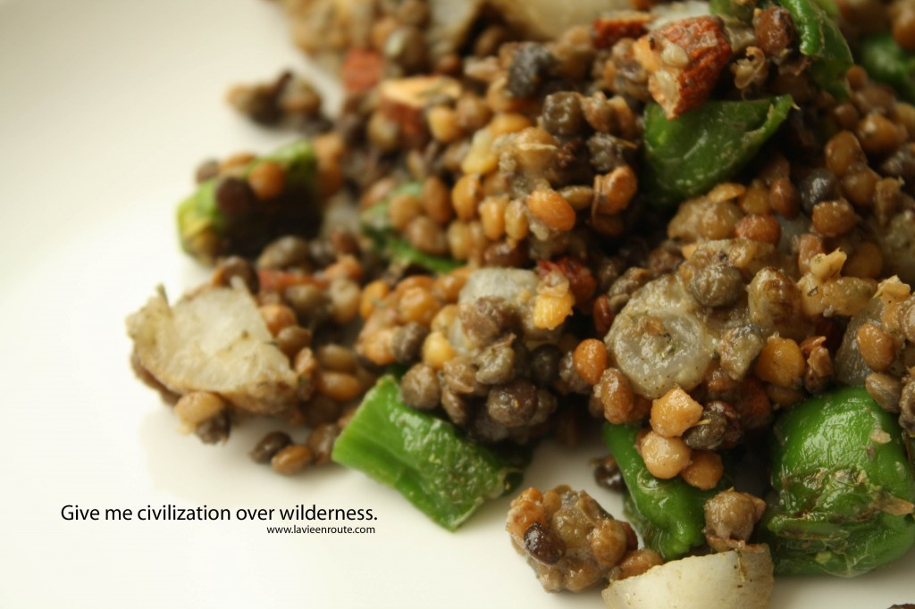SALAD RECIPES- Lentil Sunchoke Salad
