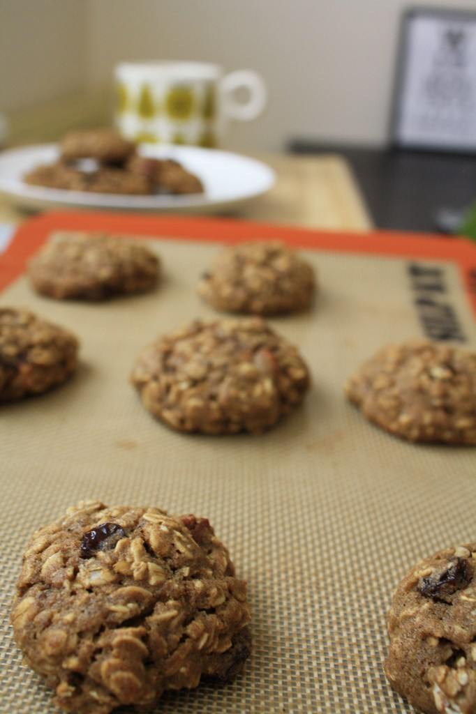 DESSERT RECIPES- Spiced Oatmeal Pumpkin Pecan Cookies