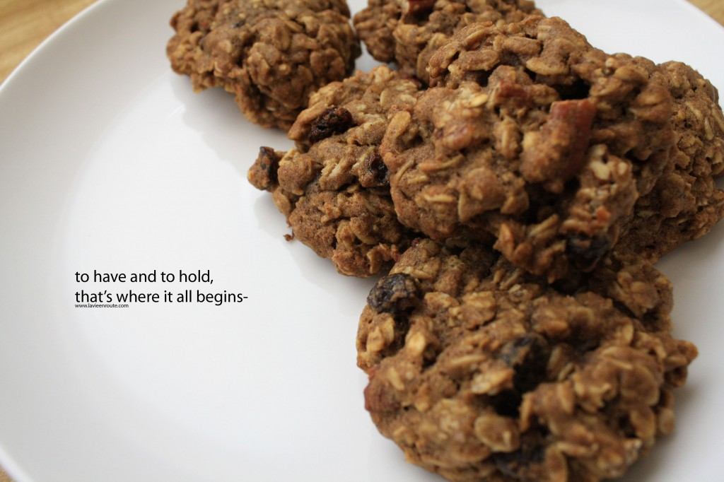 Spiced Oatmeal Pumpkin Pecan Cookies Food Poetry