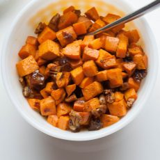 Roasted Sweet Potatoes with Dates and Pecans