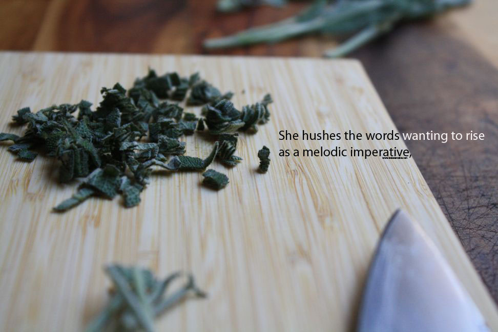 she hushes the words wanting to rise