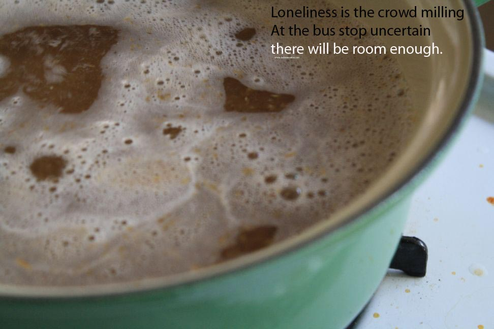 loneliness is the crowd milling around