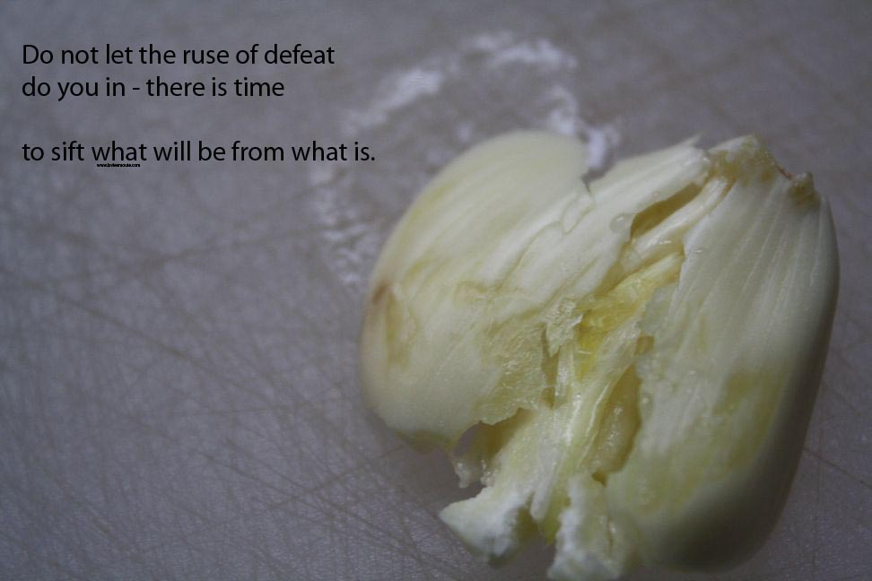 do not let the ruse of defeat pull you in