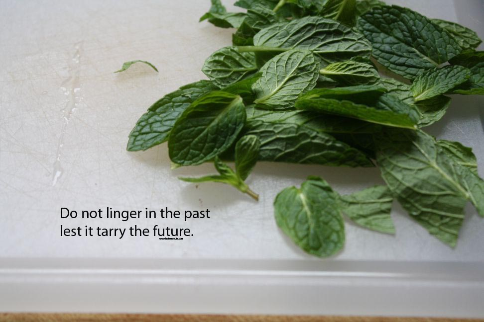 do not linger in the past lest it tarry the future