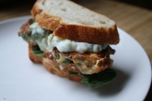 FISH RECIPES- Fish Burger with Lentil Dip and Cucumber Yogurt