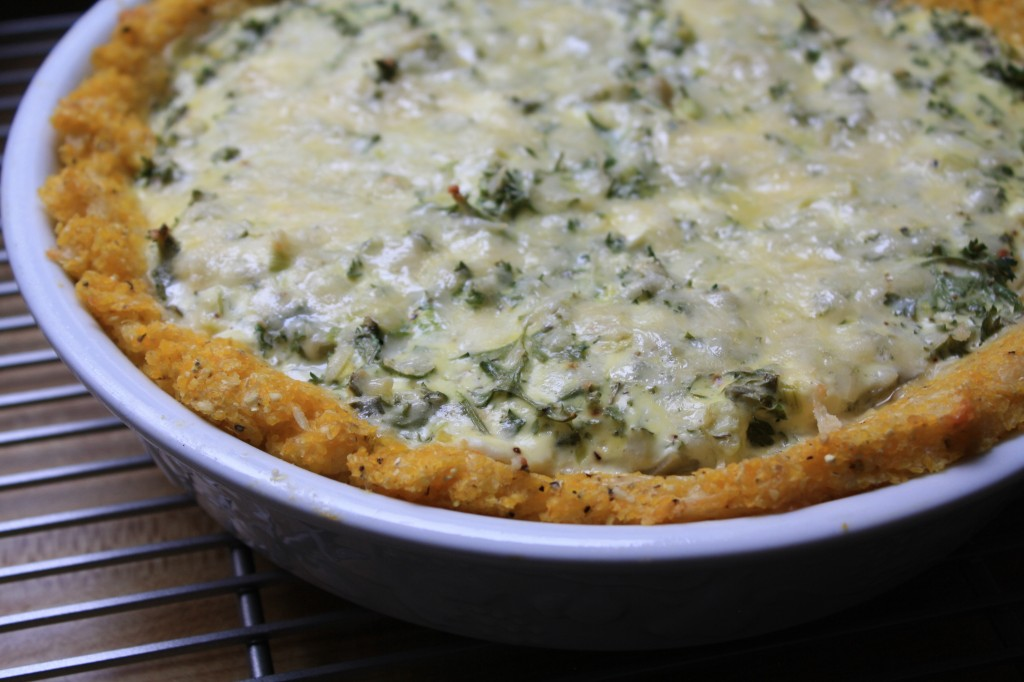 Artichoke-Rosemary Tart with Polenta Crust from Ancient Grains for Modern Meals