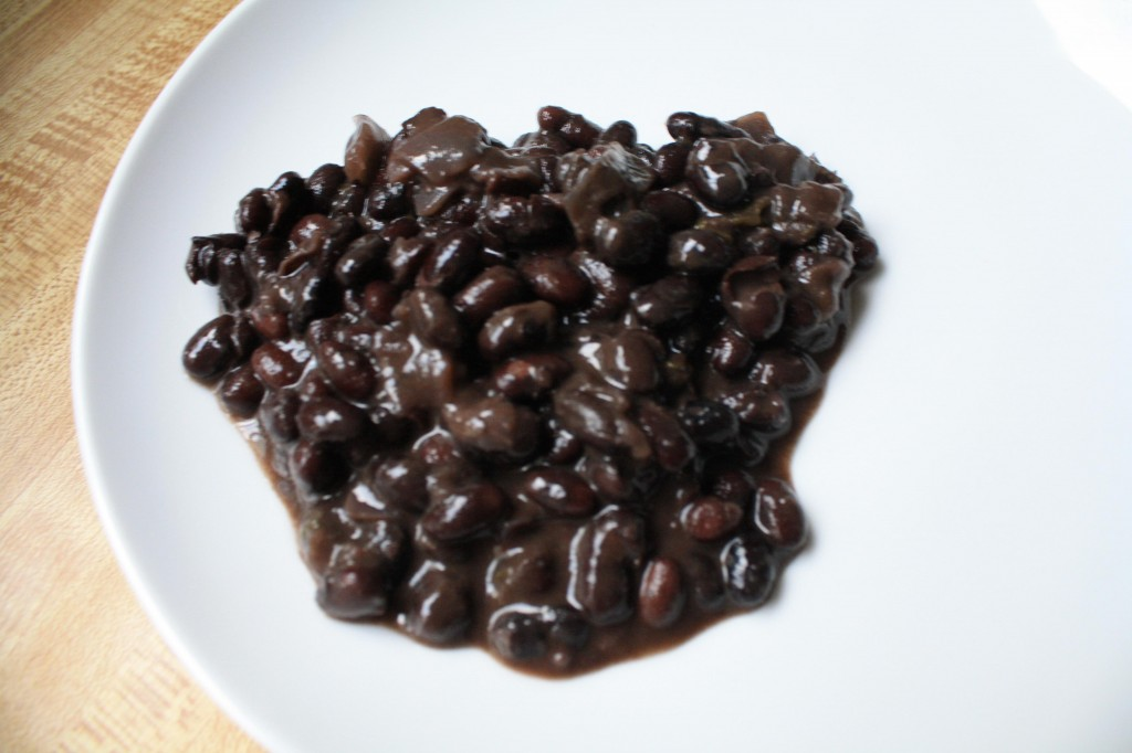 cooking a pot of black beans