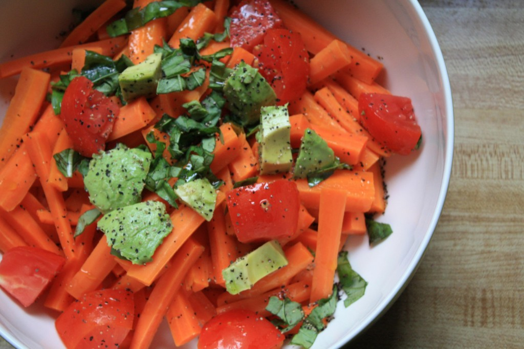 SALAD RECIPES- Chopped Carrot Basil Salad