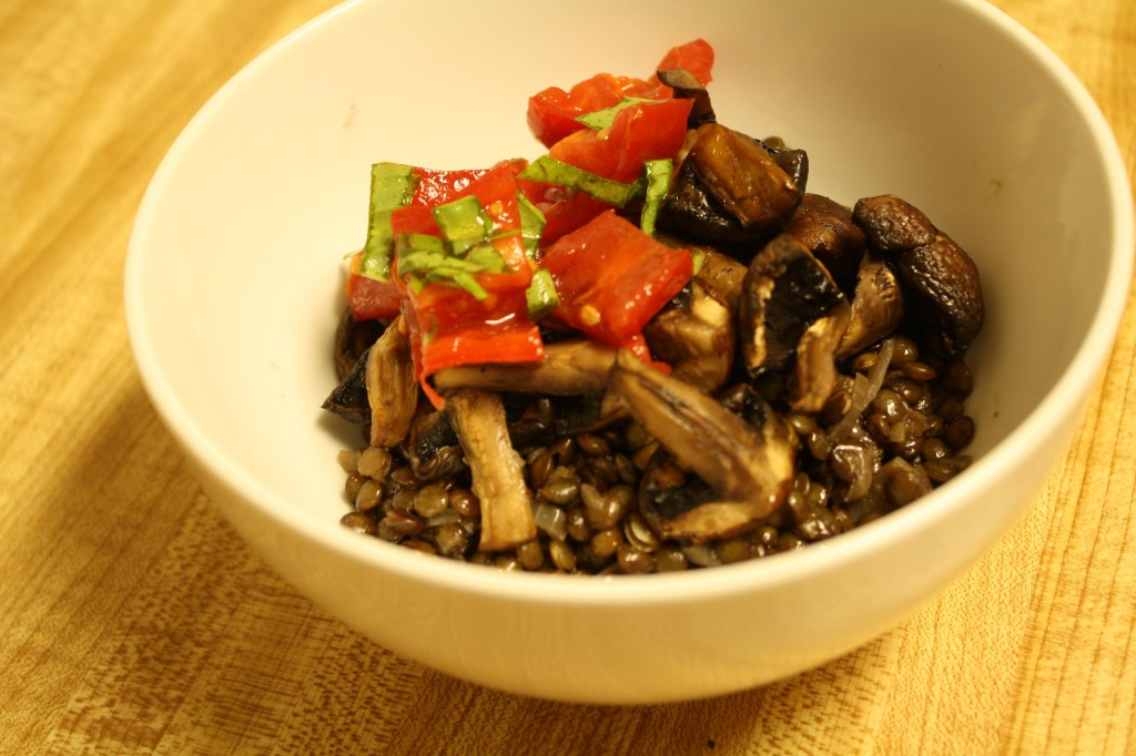 Spanish Lentil and Mushroom Stew
