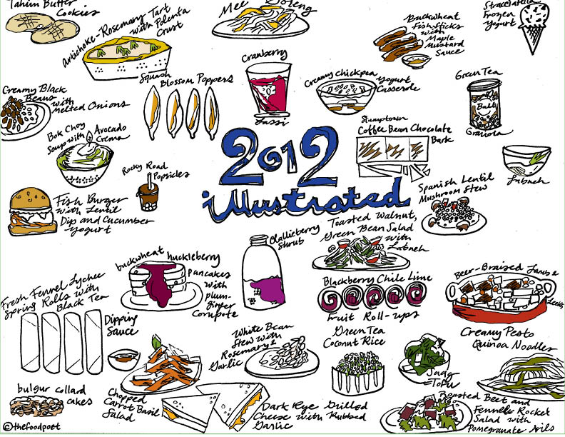 2012 recipes illustrated the food poet