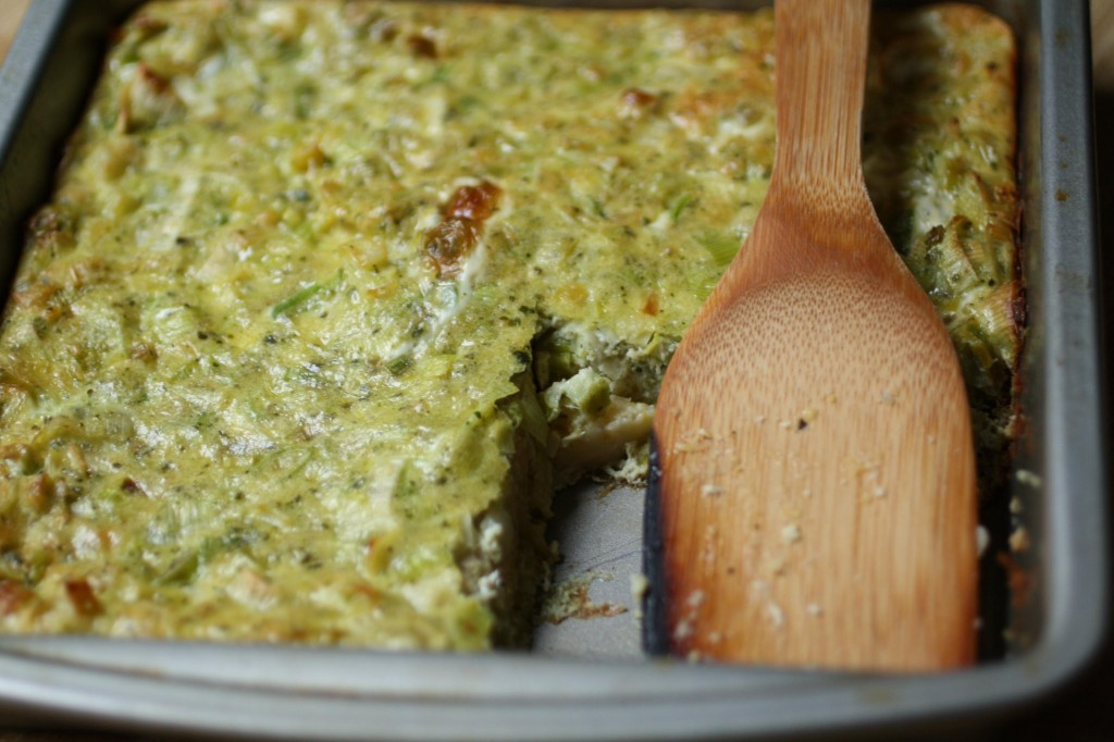 Pesto Polenta Breakfast Bake The Food Poet
