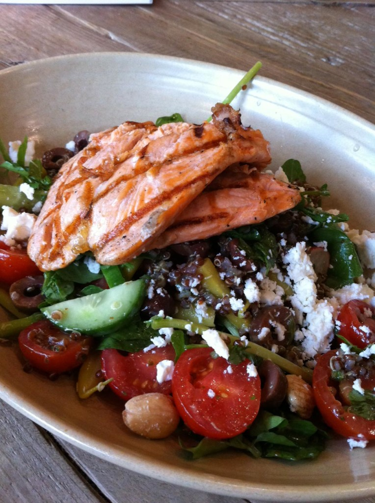 salmon farmers market salad true food kitchen santa monica