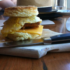 PDX tasty n alder chicken biscuit