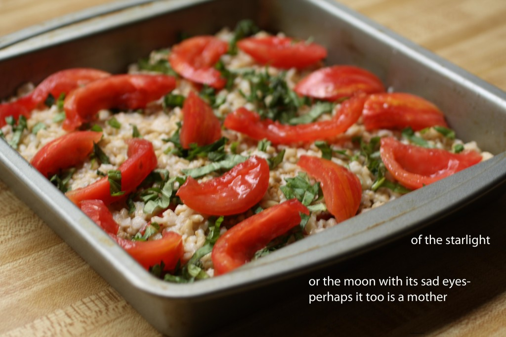 Tomato Basil Savory Baked Oatmeal | The Food Poet
