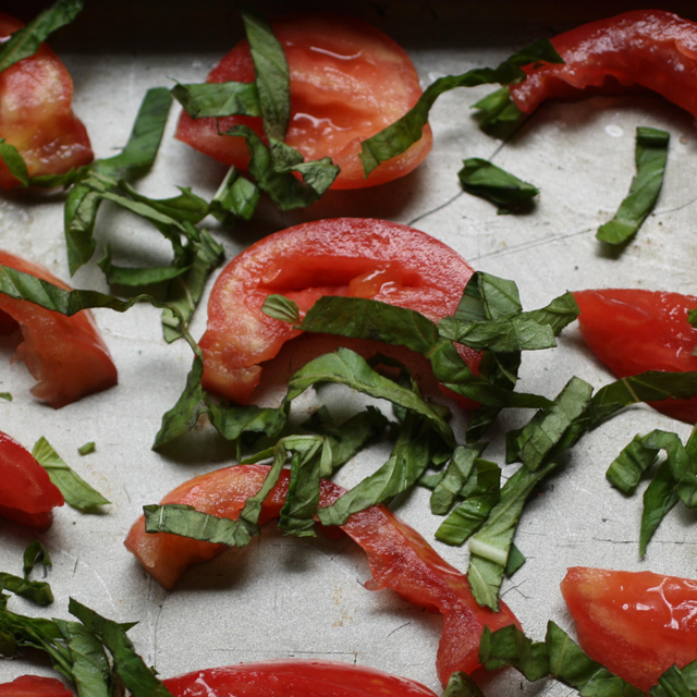 tomato basil food poetry