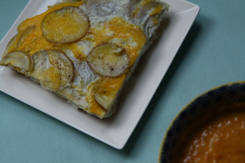 Baked Tortilla Espanola with Sungold Tomato Salsa