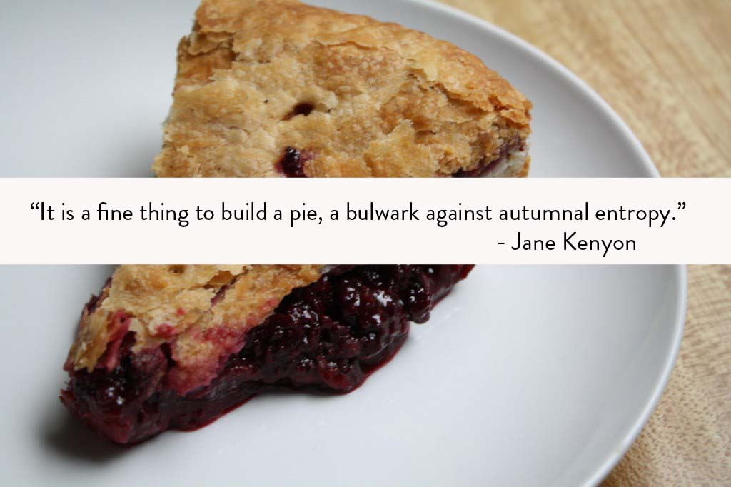 Food Poetry Jane Kenyon Pie Quote
