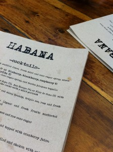 habana costa mesa menu