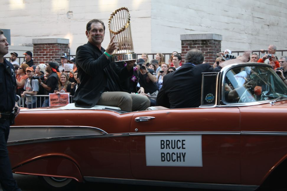 baseball poetry - bruce bochy 2010 world series parade san francisco giants
