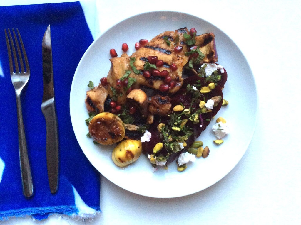 Pomegranate Chicken Eggplant and Figs