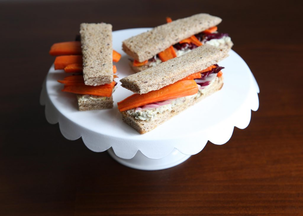Roasted Carrot Finger Sandwiches - anneliesz