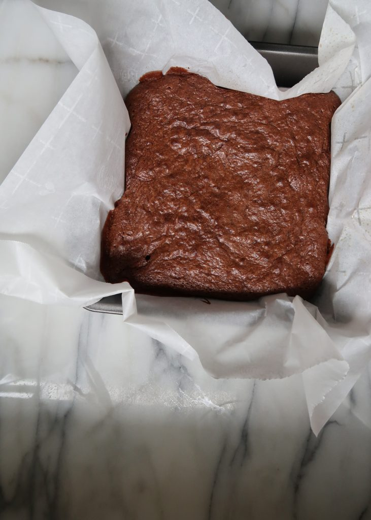 Chocolate Brownies with Salted Tahini Frosting - anneliesz