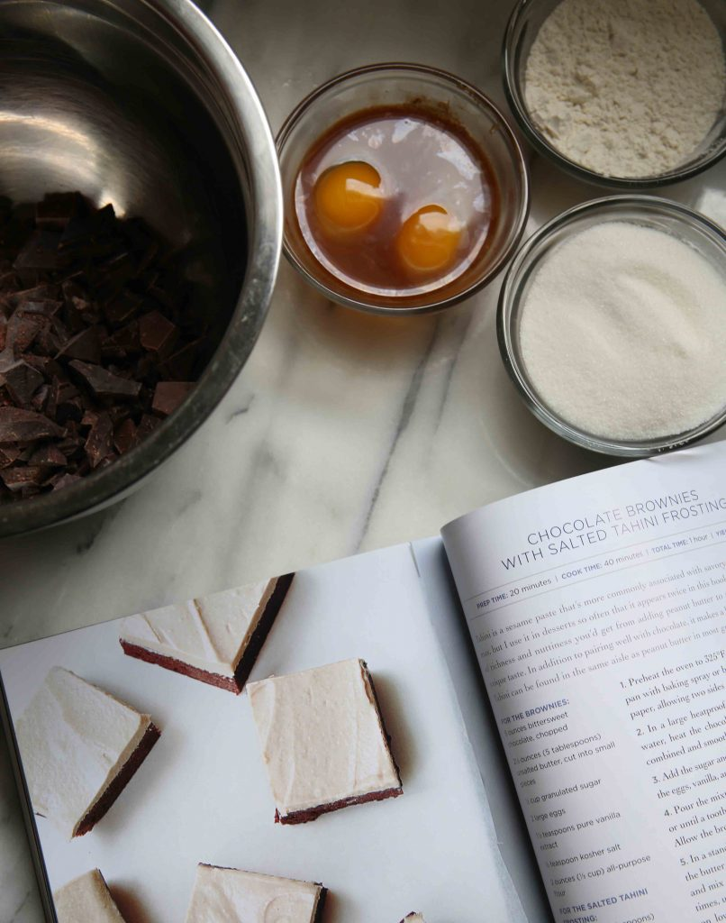 Jennifer Farley's Chocolate Brownies with Salted Tahini Frosting