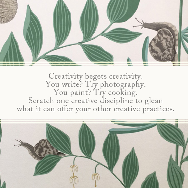 Creativity begets creativity. - anneliesz