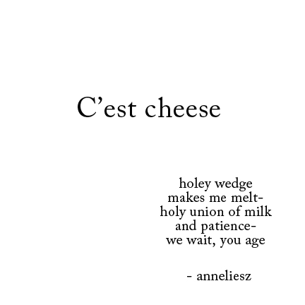 food poem snackbyte- cheese - anneliesz