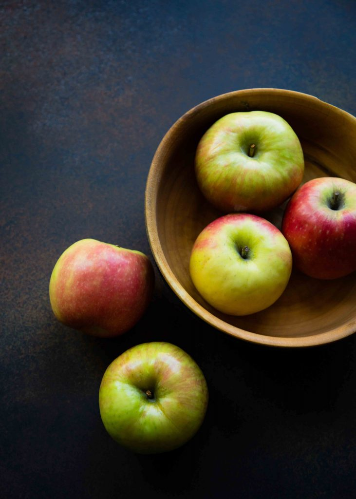 When making an Apple Maple Pecan Cobbler, choose a mix of tart and sweet apples like Granny Smith and Pink Lady apples.