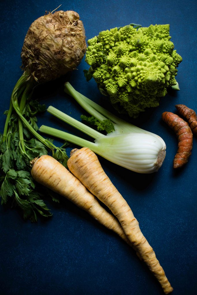 Romanesco Soup pulls together rich flavors from parsnips, fennel, and celery root.
