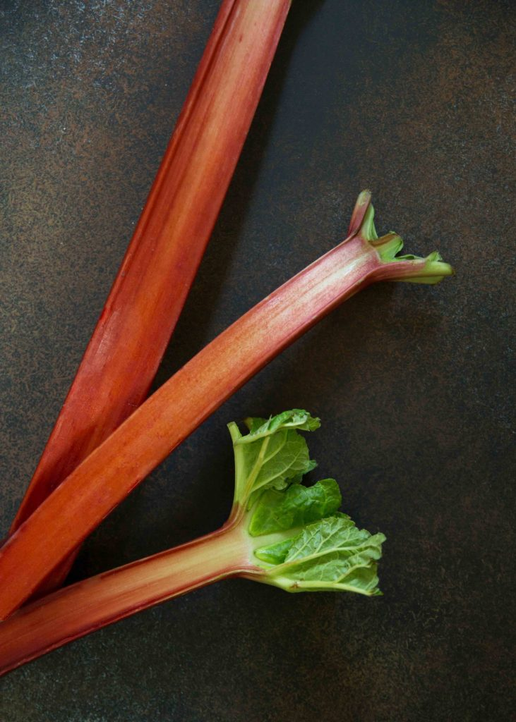Rhubarb season is just a blip but not so brief you can't make rose rhubarb fools.