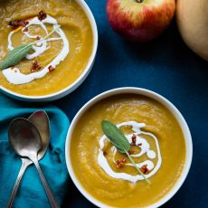 Honeycrisp Apple Butternut Squash Soup is what fall flavors are made of.